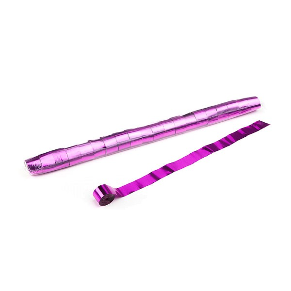 Luftschlangen/Streamer Pink (metallic), 25mm, 20m