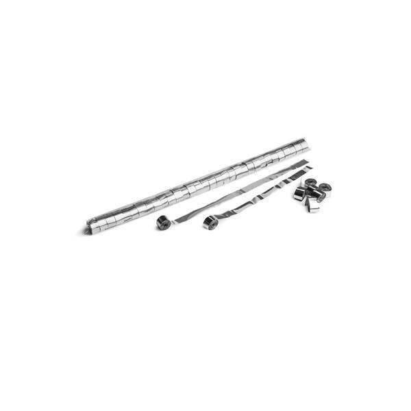 Luftschlangen/Streamer Silber (metallic), 15mm, 10m
