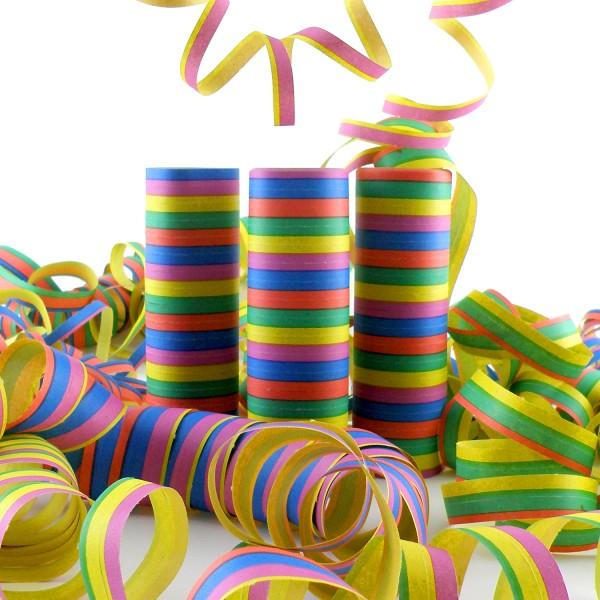 90 Luftschlangen, schwer entflammbar, 4m, 5 Farben – 5x 18 Ringe