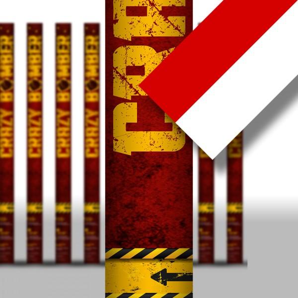 Konfettikanone - Rot/Weiß