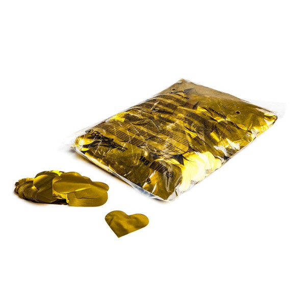 »slowfall« Konfetti Goldene Herzen (metallic), Ø 55mm, 1kg