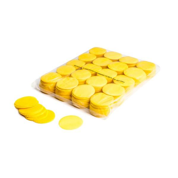 »slowfall« Konfetti Gelb, Rund Ø 55mm, 1kg