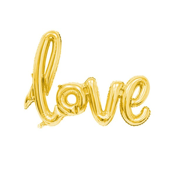 love Luftballon, 100cm, Gold (metallic)