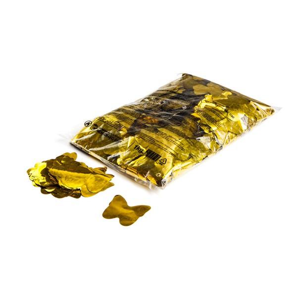 »slowfall« Konfetti Gold (metallic), Schmetterling Ø 55mm, 1kg