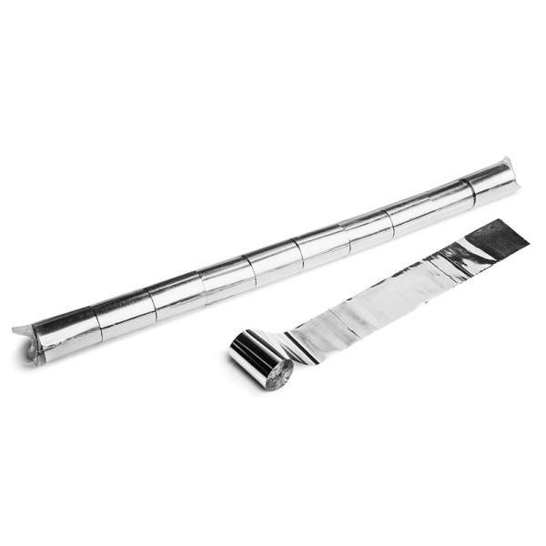 Luftschlangen/Streamer Silber (metallic), 50mm, 20m