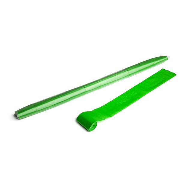 Luftschlangen/Streamer Hellgrün, 50mm, 10m