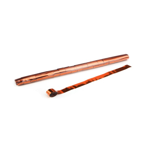 Luftschlangen/Streamer Orange (metallic), 25mm, 10m
