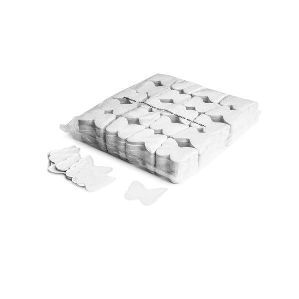 »slowfall« Konfetti Weiß, Schmetterling Ø 55mm, 1kg