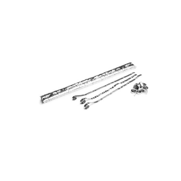 Luftschlangen/Streamer Silber (metallic), 8,5mm, 5m