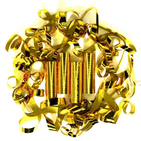 72 Luftschlangen, 4m, Gold (metallic) – 4x 18 Ringe