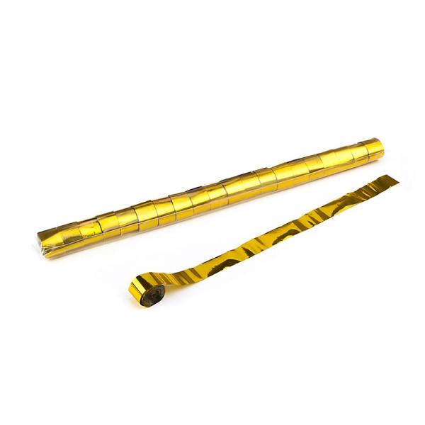 Luftschlangen/Streamer Gold (metallic), 25mm, 20m