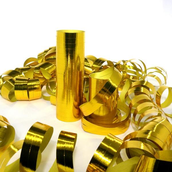 18 Luftschlangen, 4m, Gold (metallic) – 18 Ringe
