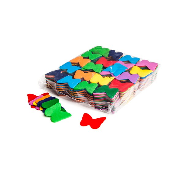 »slowfall« Konfetti Multicolor, Schmetterling Ø 55mm, 1kg