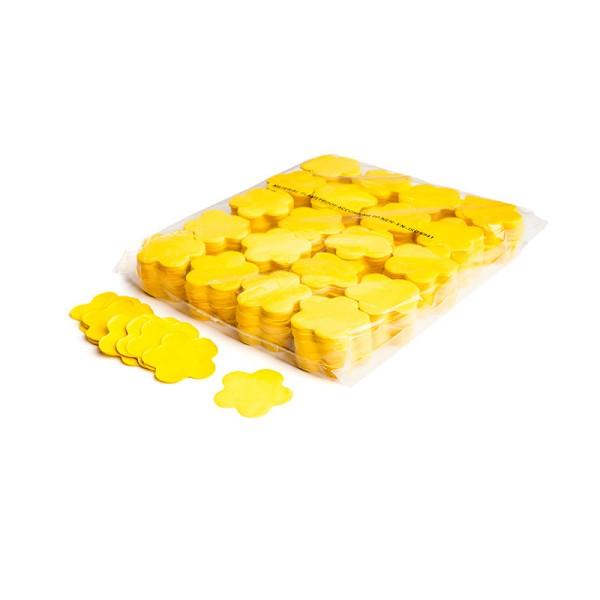 »slowfall« Konfetti Gelb, Blume Ø 55mm, 1kg