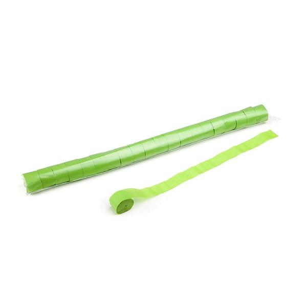 Luftschlangen/Streamer Hellgrün, 25mm, 20m