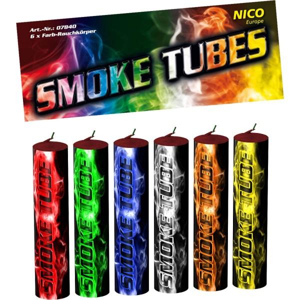 6 Rauchstäbe, Multicolor - ca. 50 sek.