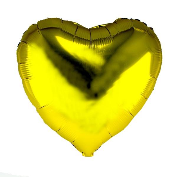 Herz Luftballon, 45cm, Gold (metallic)