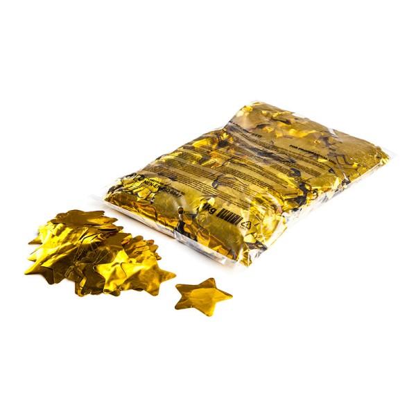 »slowfall« Konfetti Gold (metallic), Stern Ø 55mm, 1kg