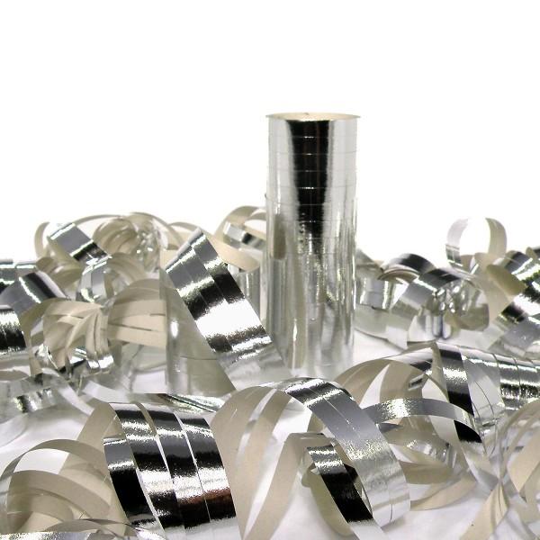 18 Luftschlangen, 4m, Silber (metallic) – 18 Ringe