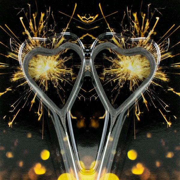 2 Symbol Wunderkerzen Herz - 2er Tüte